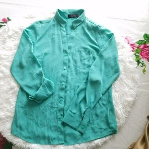 The limited blouse long sleeve sz~xs